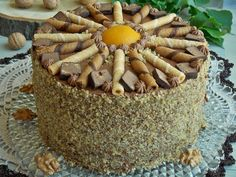 Tort Kora Orzechowa – KuchniaMniam Deserts, Food And Drink, Tasty, Sweets, Cookies, Baking, Cake, Recipes, Euro