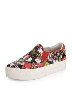 Jungle Floral-Print Slip-On Sneaker by Ash at Bergdorf Goodman.