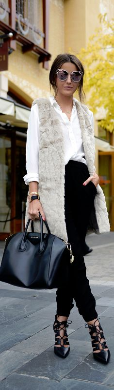 FAUX FUR VEST / Fashion By Lovely Pepa