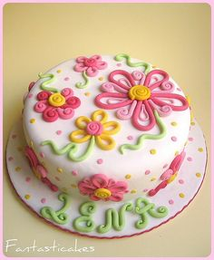 Spring Theme Cake Decorating Ideas - pretty for a birthday, bridal shower or baby shower.