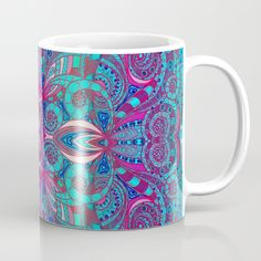 SOLD Indian Style G238 Mug! https://society6.com/product/indian-style-g238_mug#s6-2470249p30a27v199 #Society6 #Indian #Style #Mug #pattern #abstract #ethnic #floral #drawing #zentangle