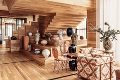 Wooden Staircases, Kelly Wearstler, Wood Interiors, Hotel Lobby, Public Spaces, Guest Rooms, Home Gifts, Carpets, Light Fixtures