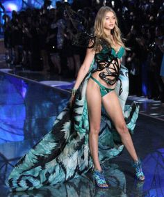 Gigi Hadid, Kendall Jenner & The Weeknd Own The Victoria's Secret Catwalk #refinery29  http://www.refinery29.com/2015/11/97402/victorias-secret-fashion-show-2015-catwalk