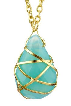 love this necklace. Turquoise and gold is my fav $18