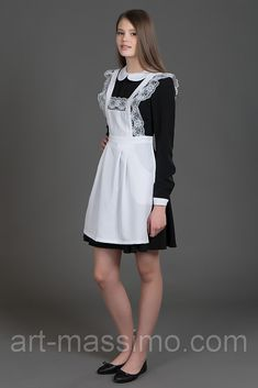Maid Uniform, School Uniform, Ballerina Flats, Ballet Flats, French Maid, Maids, Aprons, Peplum Dress, Babe