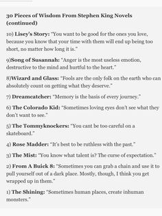 Stephen King Wisdom