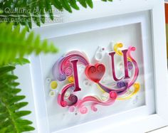 Quilling wall art Paper quilling art Love by QuillingbyLarisa