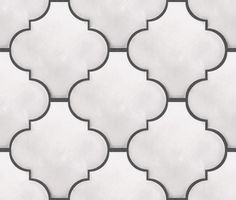 Pure White Arabesque Lantern Tile Upstairs girls bathroom and will be my kitchen backsplash!