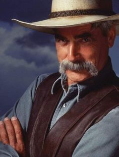 """Sam Elliott played The Stranger in the Coen brothers film The Big Lebowski. """"That was great fun,"""" he says. """"The Coen brothers are such brilliant guys. Sam Elliott Pictures, Katharine Ross, Coen Brothers, Tom Selleck, The Big Lebowski, Foto Art, Raining Men, Hollywood Actor, Vikings"""