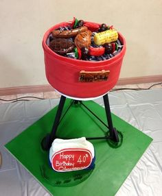 Grill Cake - Great idea for male's birthday