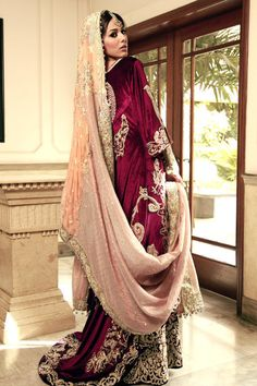 Look at the dupatta style beautifulindianbrides:  Outfit by:Umbreen Sharmeen