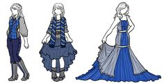 Ravenclaw House Style. Pinned the other three, so might as well...I really like the color of these.