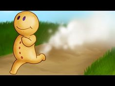 The Gingerbread Man - Children Story - YouTube-has words that you can read