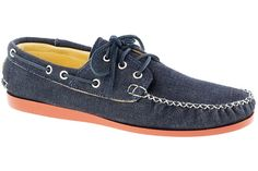 Quoddy for J. Crew Denim Boat Shoes
