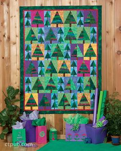 Christmas with Possibilities by Lynda Milligan & Nancy Smith, Christmas trees quilt, eBook at C and T Publishing Christmas Tree Quilt, Christmas Wall Hangings, Christmas Sewing, Christmas Crafts, Christmas Quilting, History Of Quilting, Scrappy Quilts, Amish Quilts, Quilted Wall Hangings