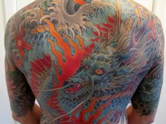 Japanese Dragon Backpiece by Mike Rubendall