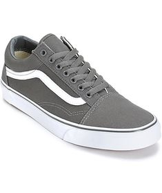 9400b3b672 Throw on some classic style with a pewter canvas upper on a white  vulcanized outsole and
