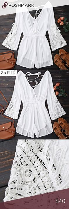 COMING SOON! Plunge white linen coverup romper Perfecto! I love this for summer. Such a cute romper coverup. Pair with one of the adorable suits in my shop and you are ready to go! Swim Coverups