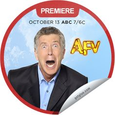 Steffie Doll's AFV Season 24 Premiere Sticker   GetGlue America's Funniest Home Videos, America Funny, Abc 7, Seasons, Stickers, Seasons Of The Year, Decals