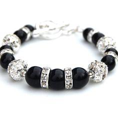 Sparkling Black Pearl Bracelet