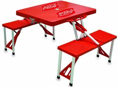 Picnic Time Coca-Cola Portable Folding Table/Seats