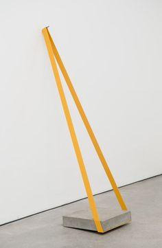MARCIUS GALAN USA Isolante (tenso) painted iron, concrete, nail 160 x 40 x 80 cm 2011