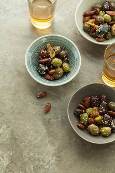 Zaatar Roasted Olives and Almonds - Set out a bowl of these irresistible, warm from the oven, za'atar roasted olives and almonds at your next party. Vegetarian Recipes Dinner, Vegan Recipes, Roasted Olives, Nibbles For Party, Dairy Free Eggs, Appetisers, Appetizer Recipes, Food Print, Real Food Recipes