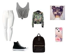 """""""Untitled #519"""" by mia-bella121 ❤ liked on Polyvore featuring New Look, (+) PEOPLE, Dsquared2, Converse and Casetify"""