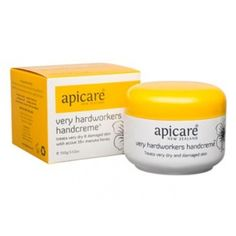 Buy Apicare Very Hardworkers Handcreme at Health Chemist Online Pharmacy Manuka Honey New Zealand, Dry Heels, Cracked Skin, Online Pharmacy, Vegetable Glycerin, Sweet Almond Oil, Feet Care, The Balm, The Cure