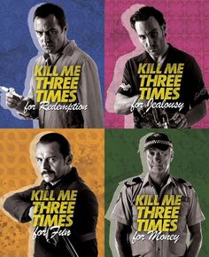 #KillMeThreeTimes character posters #SimonPegg #AustralianFilm #BryanBrown #SullivanStapleton #CallanMulvey