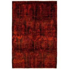 Vibrance, Hand-knotted Area Rug (32,815 MXN) ❤ liked on Polyvore featuring home, rugs, persian rugs, red, hand knotted area rugs, red area rugs, red plush rug, plush area rugs and plush rugs
