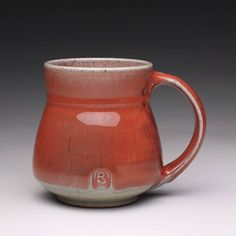 handmade ceramic mug, pottery tea cup, coffee mug with bright red and green celadon glazes by rmoralespottery on Etsy https://www.etsy.com/listing/581288791/handmade-ceramic-mug-pottery-tea-cup