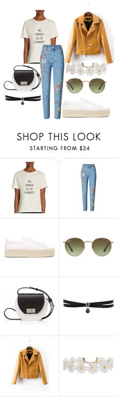 """""""Untitled #427"""" by dolrebeca ❤ liked on Polyvore featuring Christian Dior, Yves Saint Laurent, Ray-Ban, Joanna Maxham, Fallon and Humble Chic"""