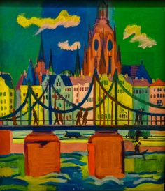 Ernst Ludwig Kirchner - Der Frankfurter Dom, 1925 at Kunstmuseum Bonn Germany | Flickr - Photo Sharing!