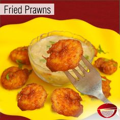 Fried Prawns - A simple yet very luscious recipe of Prawns marinated in a thick batter paste... Visit www.bestdesifood.com