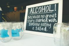 Yes - finally a sign I haven't seen. Love this for the bar. 'You don't make friends with salad'