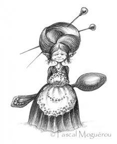 Сказочные иллюстрации Pascal Moguerou (205 работ) Fantasy Images, Fantasy Art, Ink Illustrations, Illustration Art, Steampunk Drawing, Steampunk Illustration, Fairy Drawings, Pierrot, Creepy Cute