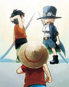 Portgas D. Ace. Sabo and Monkey D. Luffy #one piece #asl