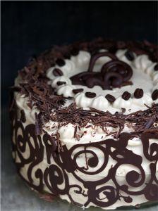 Coffee & Vanilla Bean Layered Cake