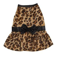 Zack & Zoey Polyester Gold Print Leopard Dog Dress, XX-Small, Black by Zack & Zoey, http://www.amazon.com/dp/B0040DJ9QO/ref=cm_sw_r_pi_dp_L5bmrb0P0RW9A