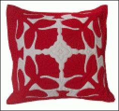 Liko Lehua (flower of the Ohia tree, beauty / strength) Hawaiian Quilt Pillow Pattern from Kilauea Kreations