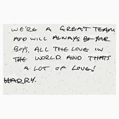 Harry Styles Handwriting