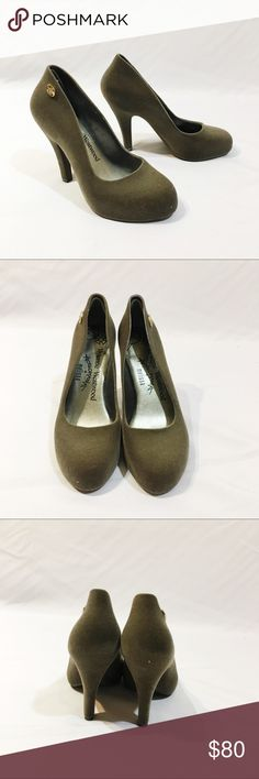 MELISSA X VIVIAN WESTWOOD grey heels like new Worn once like new super cute mint condition Melissa Shoes Heels