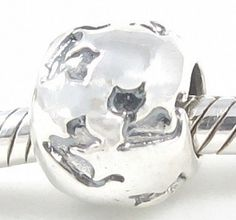 Amazon.com: Beads Hunter Jewelry Solid Sterling Silver Cat Bead Charm Fits Pandora Bracelet: Arts, Crafts & Sewing ~~ Solid Sterling Silver  stamped with 925. Compatible with 3mm and smaller Snake Chain bracelets.  Fully compatible with Pandora Biagi Chamilia Trollbeads.  Design your own bead charm jewelry.   10 mm Di x 10 mm H x 8 mm W