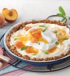 One of our favorite summer fruits is peaches, and this Peaches and Cream Icebox Pie shows them off in the most delicious way.