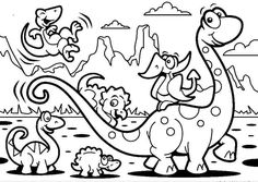 Free Printable Dinosaur coloring pages and sheets to color, A selection of dinosaur pictures and dinosaur facts from coloring-forkids.com