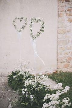 Baby Breath Gyp Gypsophila Heart Flowers Stems Decor Bohemian Chic Countryside Wedding Vicenza www.weddingcity.i...