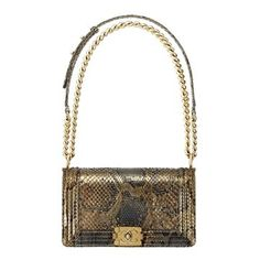 Chanel Chanel 2013 early spring vacation series golden snakeskin Boy Chanel chain shoulder bag