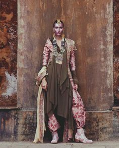 Kate King channels a Hindu goddess in this beautiful editorial photographed by Andrew Yee