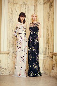 floral embriodery gowns  Erdem resort 2014